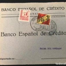 Sellos: ESPAÑA GUERRA CIVIL. FRONTAL DE CARTA CENSURA MILITAR GRANADA. Lote 216421515