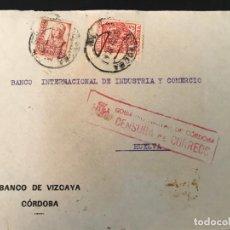 Sellos: ESPAÑA GUERRA CIVIL FRONTAL DE CARTA CENSURA MILITAR CORDOBA. Lote 216422170