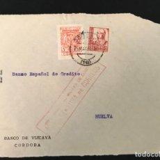 Sellos: ESPAÑA GUERRA CIVIL FRONTAL DE CARTA CENSURA MILITAR CORDOBA. Lote 216428566
