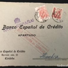Sellos: ESPAÑA GUERRA CIVIL FRONTAL DE CARTA CENSURA MILITAR CORDOBA. Lote 216429192