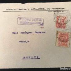 Sellos: ESPAÑA GUERRA CIVIL FRONTAL DE CARTA CENSURA MILITAR PEÑARROYA PUEBLONUEVO. Lote 216429652