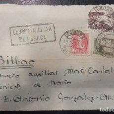 Francobolli: 1938.- EL FERROL (LA CORUÑA) AL CRUCERO MAR CANTÁBRICO. FRONTAL DE CARTA.. Lote 216483028