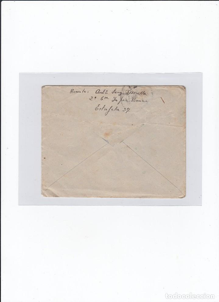 Sellos: Sobre + carta. Censura militar. 2ª Compañia de infanteria de Marina del....Batallón Expedicionario. - Foto 2 - 216490436