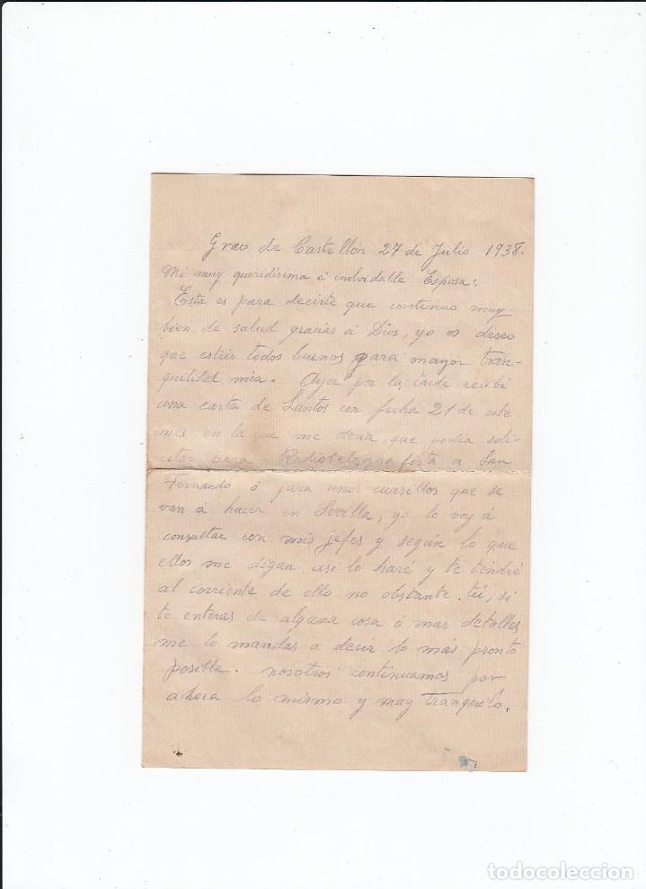 Sellos: Sobre + carta. Censura militar. 2ª Compañia de infanteria de Marina del....Batallón Expedicionario. - Foto 3 - 216490436