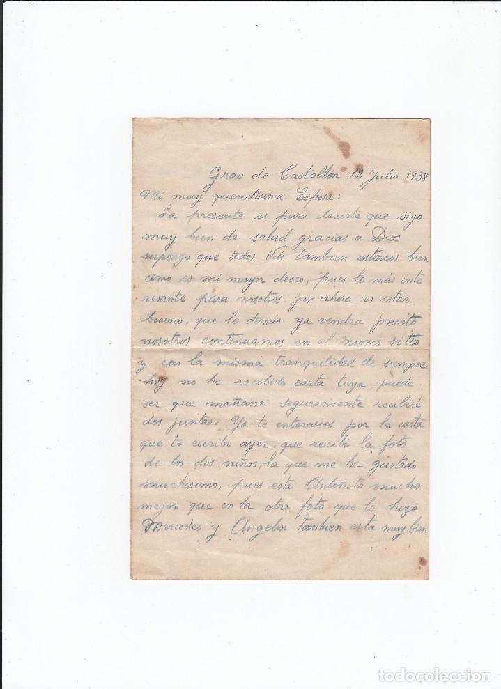 Sellos: Sobre + carta. Censura militar. 2ª Compañia de infanteria de Marina del....Batallón Expedicionario. - Foto 3 - 216490965
