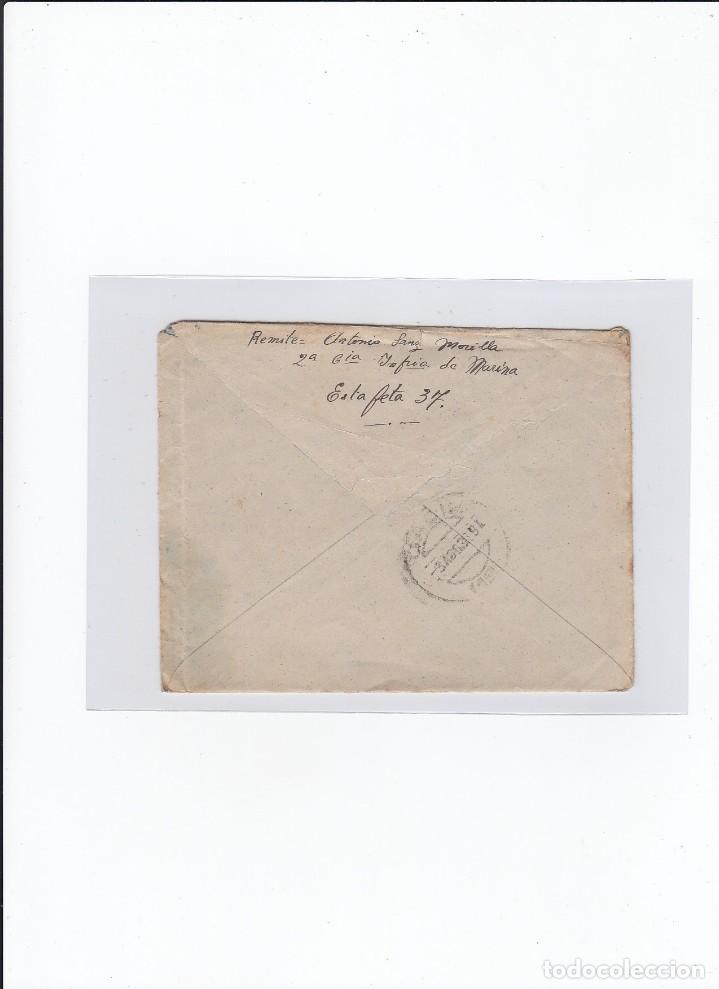 Sellos: Sobre + carta. Censura militar. 2ª Compañia de infanteria de Marina del....Batallón Expedicionario. - Foto 2 - 216492193