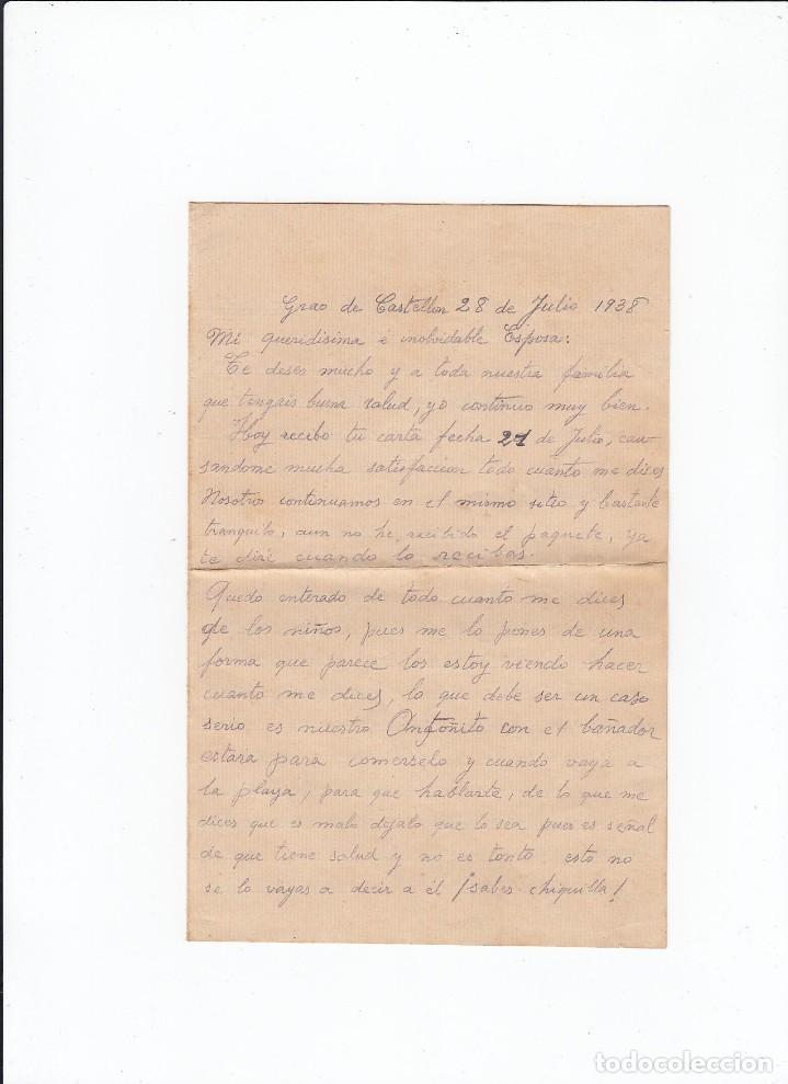 Sellos: Sobre + carta. Censura militar. 2ª Compañia de infanteria de Marina del....Batallón Expedicionario. - Foto 3 - 216492193
