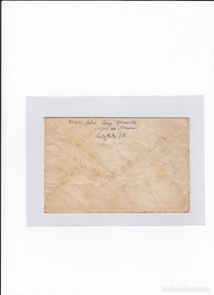 Sellos: Sobre + carta. Censura militar. 2ª Compañia de infanteria de Marina del....Batallón Expedicionario. - Foto 2 - 216492806