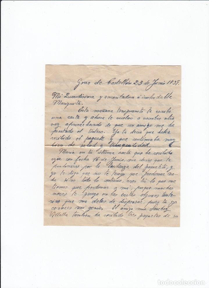 Sellos: Sobre + carta. Censura militar. 2ª Compañia de infanteria de Marina del....Batallón Expedicionario. - Foto 3 - 216492806