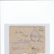 Sellos: SOBRE + CARTA. CENSURA MILITAR. 2ª COMPAÑIA DE INFANTERIA DE MARINA DEL....BATALLÓN EXPEDICIONARIO.. Lote 216494696