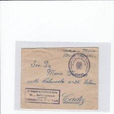Sellos: SOBRE + CARTA. CENSURA MILITAR. 2ª COMPAÑIA DE INFANTERIA DE MARINA DEL....BATALLÓN EXPEDICIONARIO.. Lote 216495607