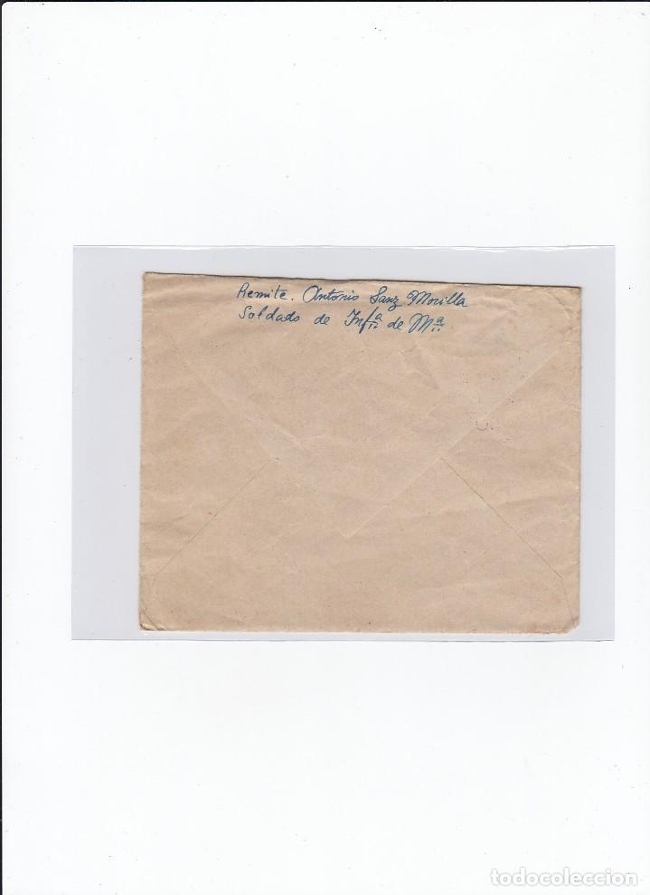Sellos: Sobre + carta. Censura militar. 2ª Compañia de infanteria de Marina del....Batallón Expedicionario. - Foto 2 - 216495607