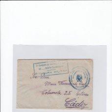 Sellos: SOBRE + CARTA. CENSURA MILITAR. 2ª COMPAÑIA DE INFANTERIA DE MARINA DEL....BATALLÓN EXPEDICIONARIO.. Lote 216496132