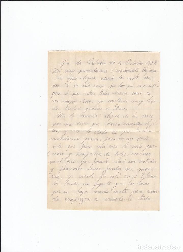 Sellos: Sobre + carta. Censura militar. 2ª Compañia de infanteria de Marina del....Batallón Expedicionario. - Foto 3 - 216496132