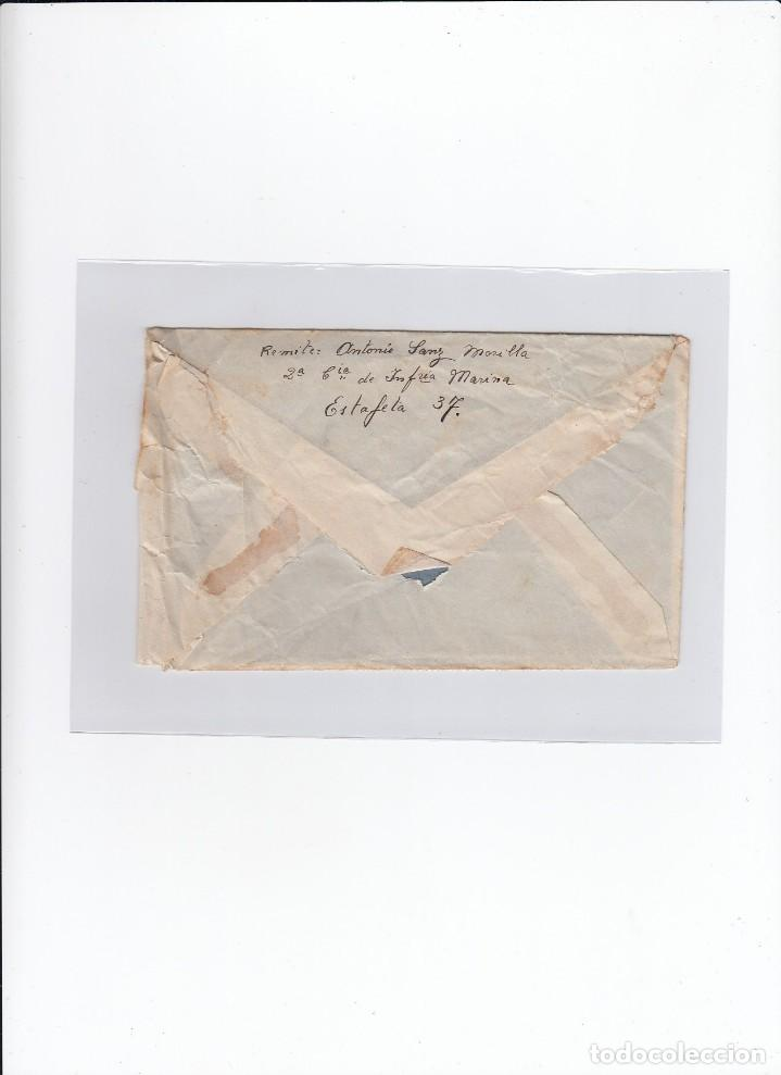 Sellos: Sobre + carta. Censura militar. 2ª Compañia de infanteria de Marina del....Batallón Expedicionario. - Foto 2 - 216496771