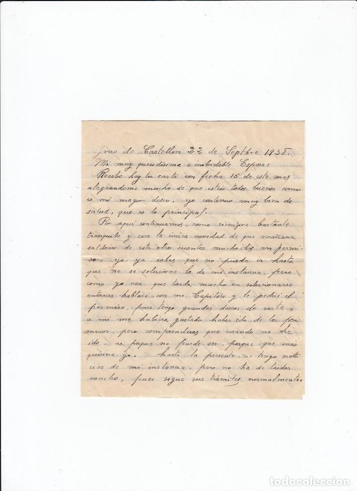 Sellos: Sobre + carta. Censura militar. 2ª Compañia de infanteria de Marina del....Batallón Expedicionario. - Foto 3 - 216496771