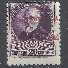 Selos: BURGOS HABILITADO CORRESPONDENCIA URGENTE 1936 EDIFIL 45 NUEVO**. Lote 216531945