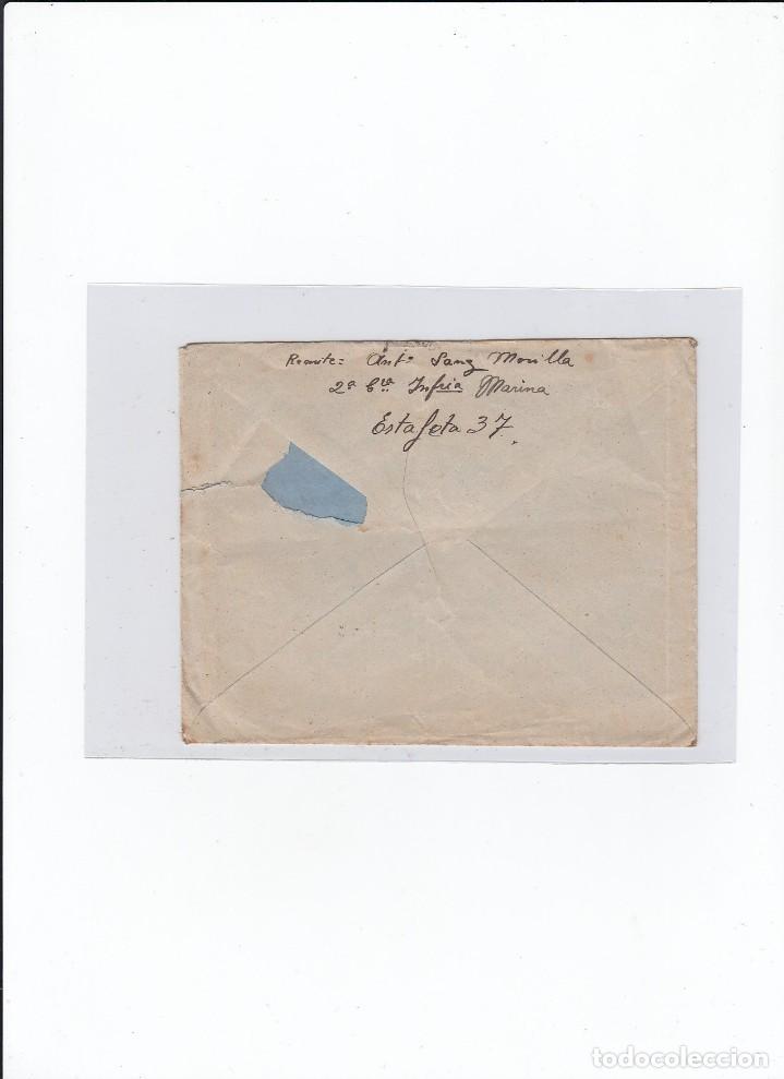 Sellos: Sobre + carta. Censura militar. 2ª Compañia de infanteria de Marina del....Batallón Expedicionario. - Foto 2 - 216596643