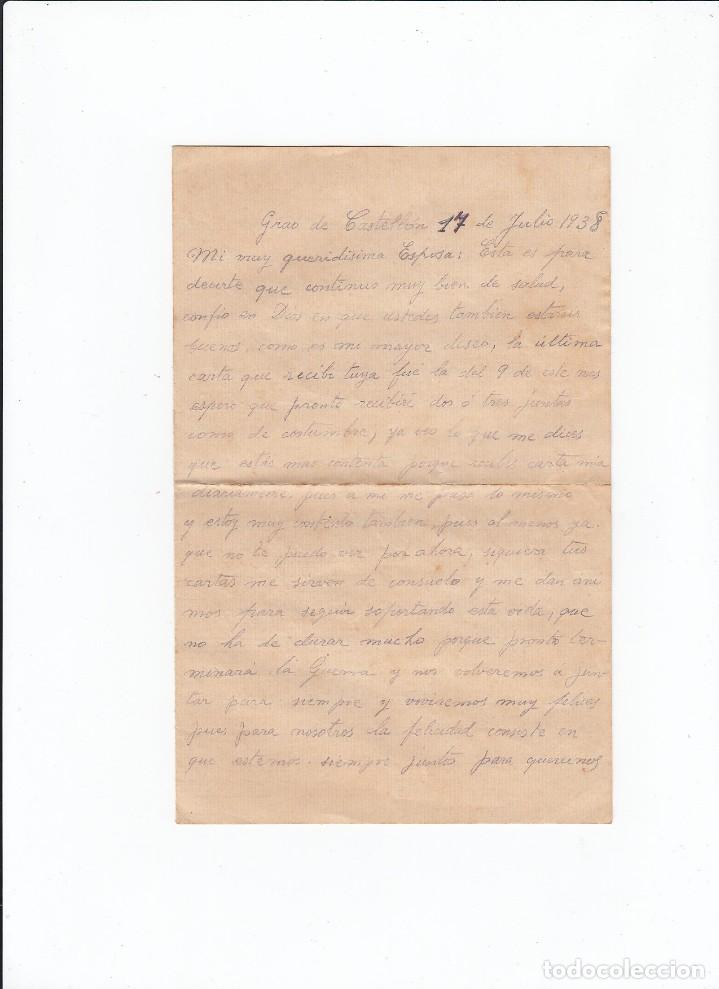 Sellos: Sobre + carta. Censura militar. 2ª Compañia de infanteria de Marina del....Batallón Expedicionario. - Foto 3 - 216596643