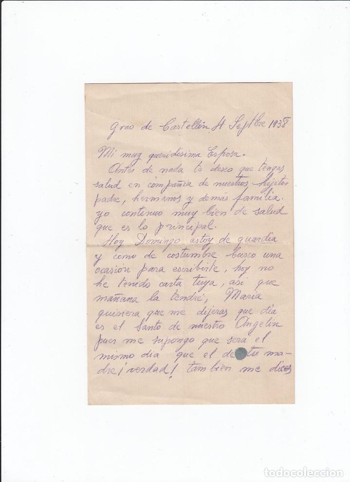 Sellos: Sobre + carta. Censura militar. 2ª Compañia de infanteria de Marina del....Batallón Expedicionario. - Foto 3 - 216597033