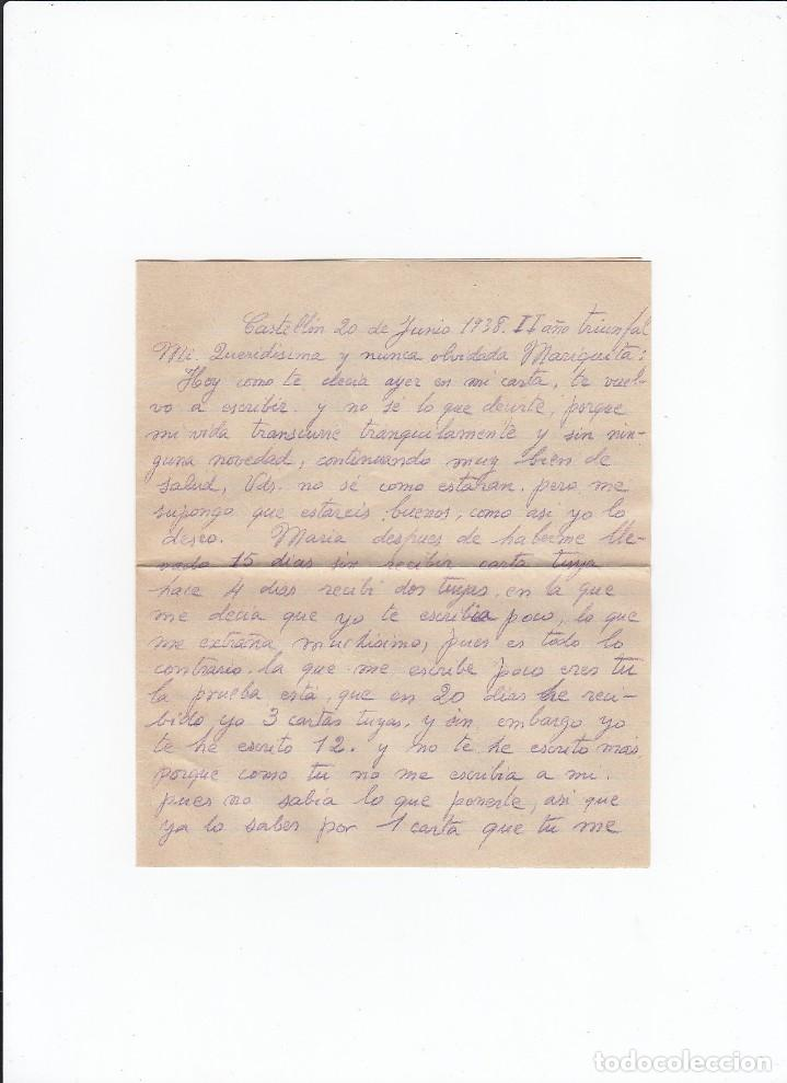 Sellos: Sobre + carta. Censura militar. 2ª Compañia de infanteria de Marina del....Batallón Expedicionario. - Foto 3 - 216597317