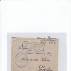 Sellos: SOBRE + CARTA. CENSURA MILITAR. 2ª COMPAÑIA DE INFANTERIA DE MARINA DEL....BATALLÓN EXPEDICIONARIO.. Lote 216597960