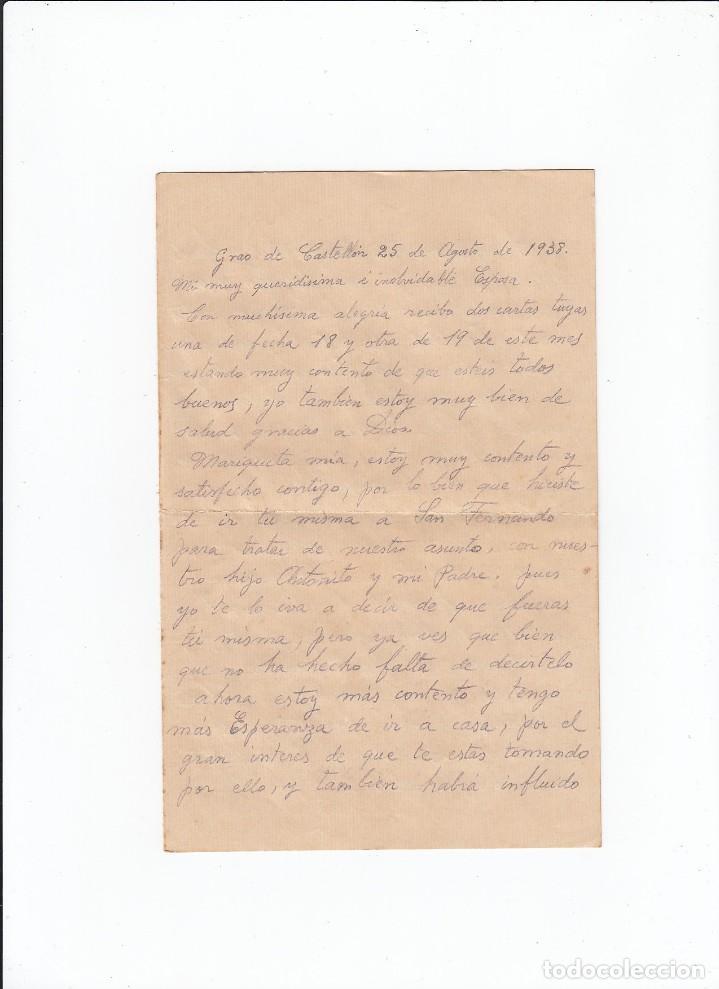 Sellos: Sobre + carta. Censura militar. 2ª Compañia de infanteria de Marina del....Batallón Expedicionario. - Foto 3 - 216597960