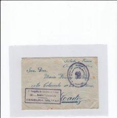 Sellos: SOBRE + CARTA. CENSURA MILITAR. 2ª COMPAÑIA DE INFANTERIA DE MARINA DEL....BATALLÓN EXPEDICIONARIO.. Lote 216598355