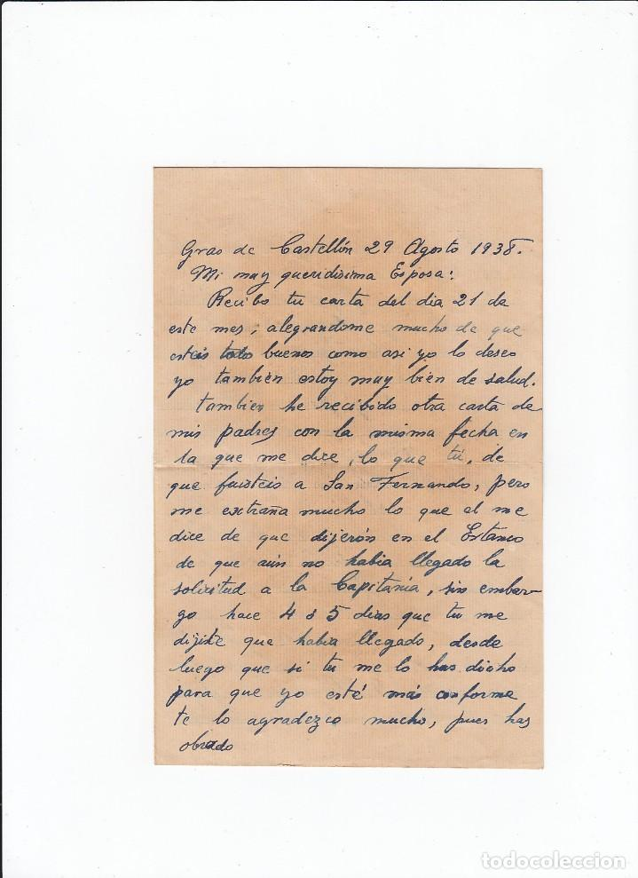 Sellos: Sobre + carta. Censura militar. 2ª Compañia de infanteria de Marina del....Batallón Expedicionario. - Foto 3 - 216598810