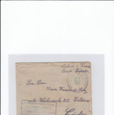 Sellos: SOBRE + CARTA. CENSURA MILITAR. 2ª COMPAÑIA DE INFANTERIA DE MARINA DEL....BATALLÓN EXPEDICIONARIO.. Lote 216599175