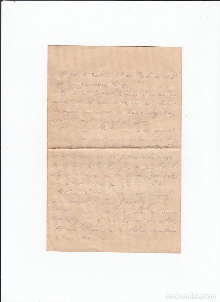 Sellos: Sobre + carta. Censura militar. 2ª Compañia de infanteria de Marina del....Batallón Expedicionario. - Foto 3 - 216599175