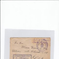 Sellos: SOBRE + CARTA. CENSURA MILITAR. 2ª COMPAÑIA DE INFANTERIA DE MARINA DEL....BATALLÓN EXPEDICIONARIO.. Lote 216599583