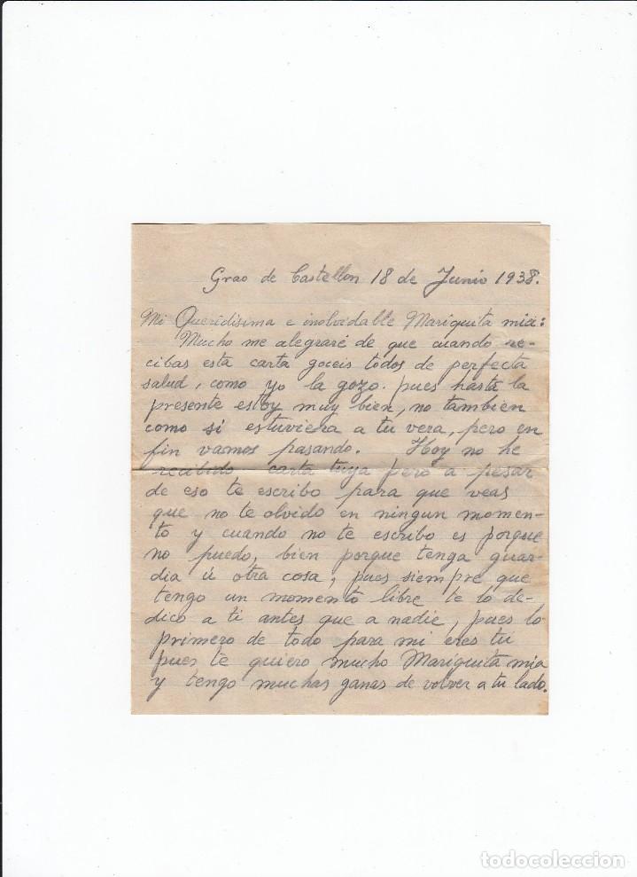 Sellos: Sobre + carta. Censura militar. 2ª Compañia de infanteria de Marina del....Batallón Expedicionario. - Foto 3 - 216599583