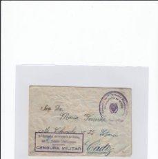 Sellos: SOBRE + CARTA. CENSURA MILITAR. 2ª COMPAÑIA DE INFANTERIA DE MARINA DEL....BATALLÓN EXPEDICIONARIO.. Lote 216600065