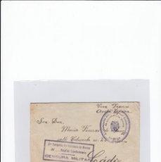 Sellos: SOBRE + CARTA. CENSURA MILITAR. 2ª COMPAÑIA DE INFANTERIA DE MARINA DEL....BATALLÓN EXPEDICIONARIO.. Lote 216600416