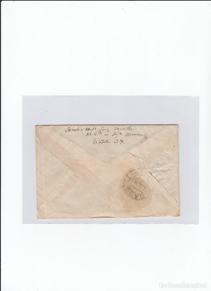 Sellos: Sobre + carta. Censura militar. 2ª Compañia de infanteria de Marina del....Batallón Expedicionario. - Foto 2 - 216600416