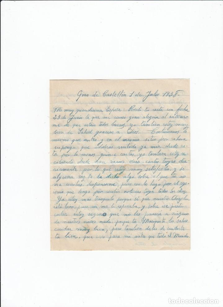 Sellos: Sobre + carta. Censura militar. 2ª Compañia de infanteria de Marina del....Batallón Expedicionario. - Foto 3 - 216600416