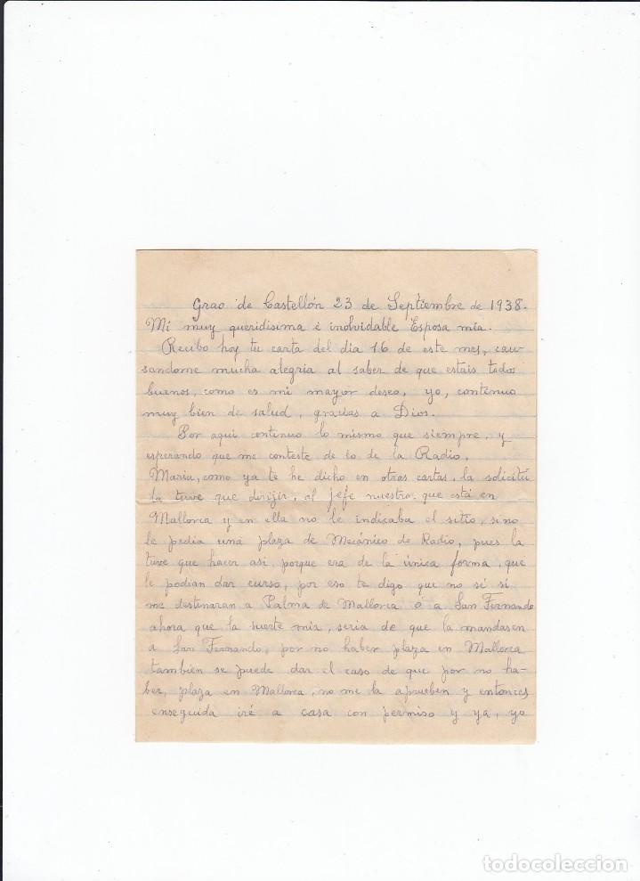 Sellos: Sobre + carta. Censura militar. 2ª Compañia de infanteria de Marina del....Batallón Expedicionario. - Foto 3 - 216601646