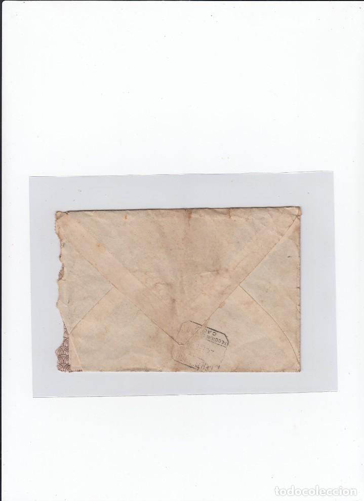 Sellos: Sobre + carta. De Astorga ( León ) a Cádiz . Censura militar, propaganda patriótica. 21 / 02 /1938 - Foto 2 - 216615107