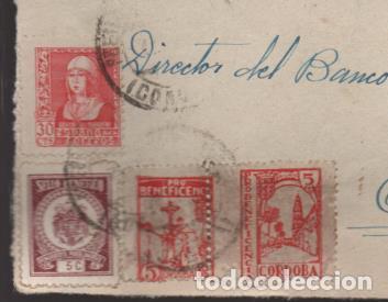 FRONTAL CON PAREJA DE SELLOS DE CORDOBA UNIDOS LOS TIPO A Y B.- MAS C.M. PEÑARROYA-PUEBLONUEVO,. VE (Sellos - España - Guerra Civil - Locales - Cartas)