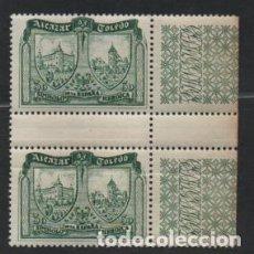 Sellos: ALCAZA DE TOLEDO,- 30 CTS,,PAREJA CON INTERPANEL Y FILIGRANAS,--VER FOTO. Lote 216731445
