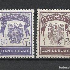 Sellos: ESPAÑA GUERRA CIVIL CANILLEJAS ** - 3/9. Lote 188718620
