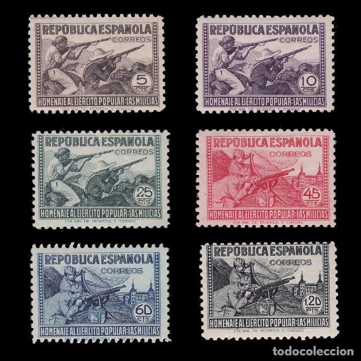 1938.HOMENAJE EJÉRCITO POPULAR. 6 VALORES. MNH EDIFIL.794-797 (Sellos - España - Guerra Civil - De 1.936 a 1.939 - Nuevos)