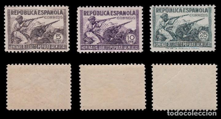 Sellos: 1938.Homenaje Ejército Popular. 6 valores. MNH Edifil.794-797 - Foto 2 - 217003180
