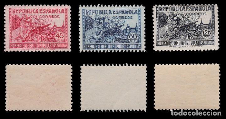 Sellos: 1938.Homenaje Ejército Popular. 6 valores. MNH Edifil.794-797 - Foto 3 - 217003180