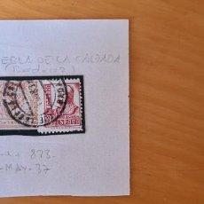 Sellos: FILATELIA GUERRA CIVIL 1937 PUEBLA DE LA CALZADA BADAJOZ 823 + LOCAL. Lote 217020711