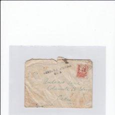 Timbres: SOBRE + CARTA. CENSURA MILITAR ROA. CIRCULADA EN 1937. Lote 217026883