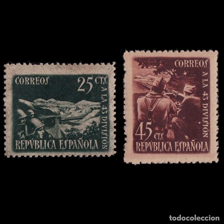 1938.HOMENAJE 43 DIVISIÓN.SERIE.MNH.EDIFIL.787-788 (Sellos - España - Guerra Civil - De 1.936 a 1.939 - Nuevos)