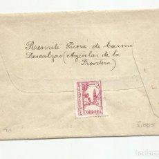 Francobolli: CIRCULADA Y ESCRITA 1938 DE AGUILAR DE LA FRONTERA CORDOBA A TUY PONTEVEDRA CON CENSURA MILITAR Y. Lote 217196726
