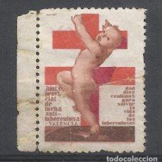 Sellos: JUNTA ANTITUBERCULOSIS DE VALENCIA 10 CTS NUEVO(*). Lote 217257496